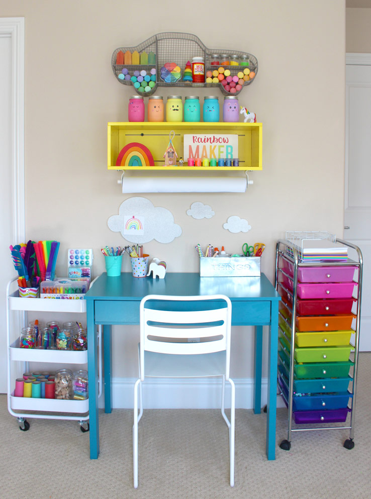 10 clever solutions to to help you tame toy clutter two for Creative desk solutions