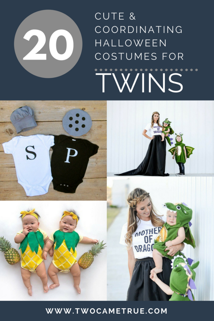 20 cute and coordinating halloween costumes for TWINS